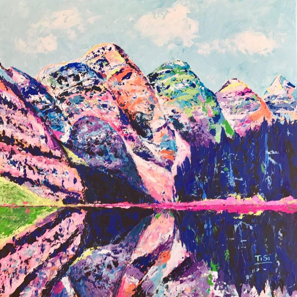 "Contemporary Art Original Kunstwerk ""Moraine Lake"" © Silke Timpe 2019"