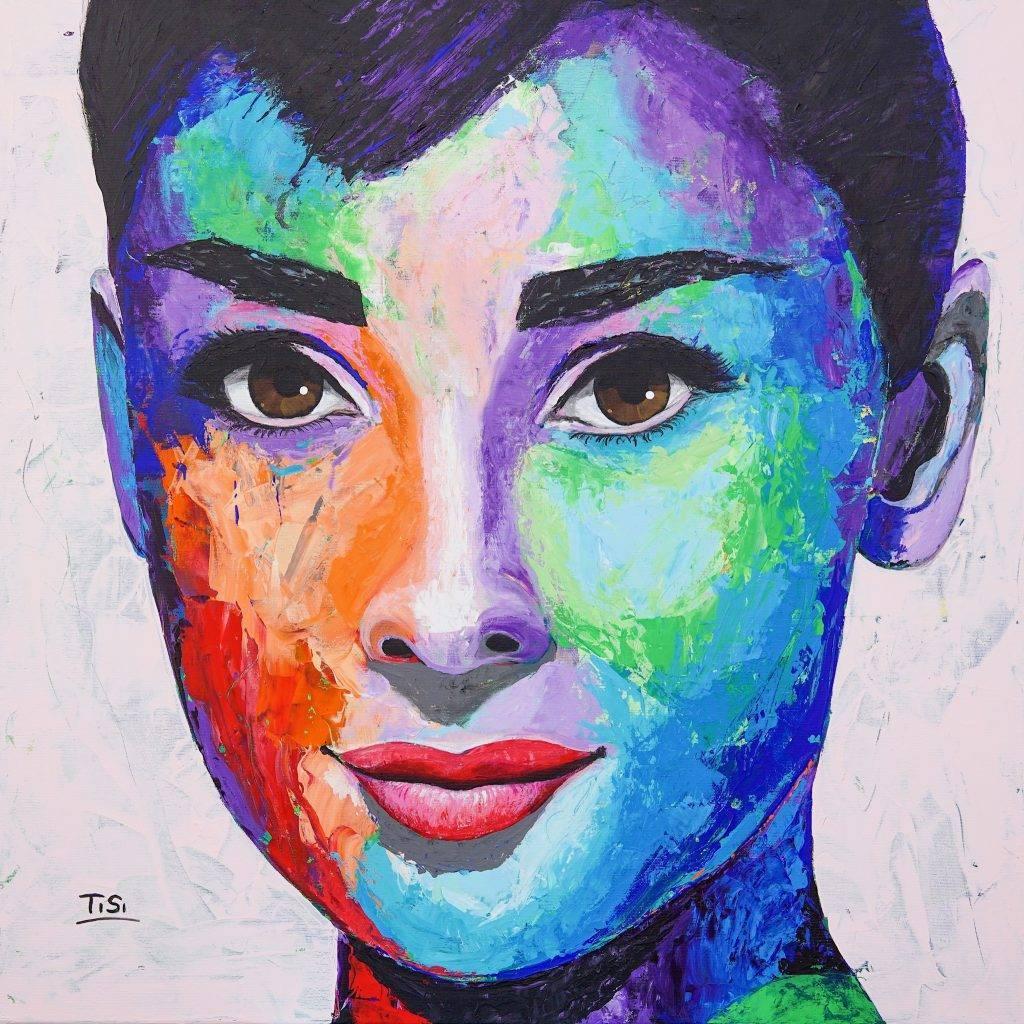 "Contemporary Art,  Original Kunstwerk ""Audrey""  © Silke Timpe 2019"