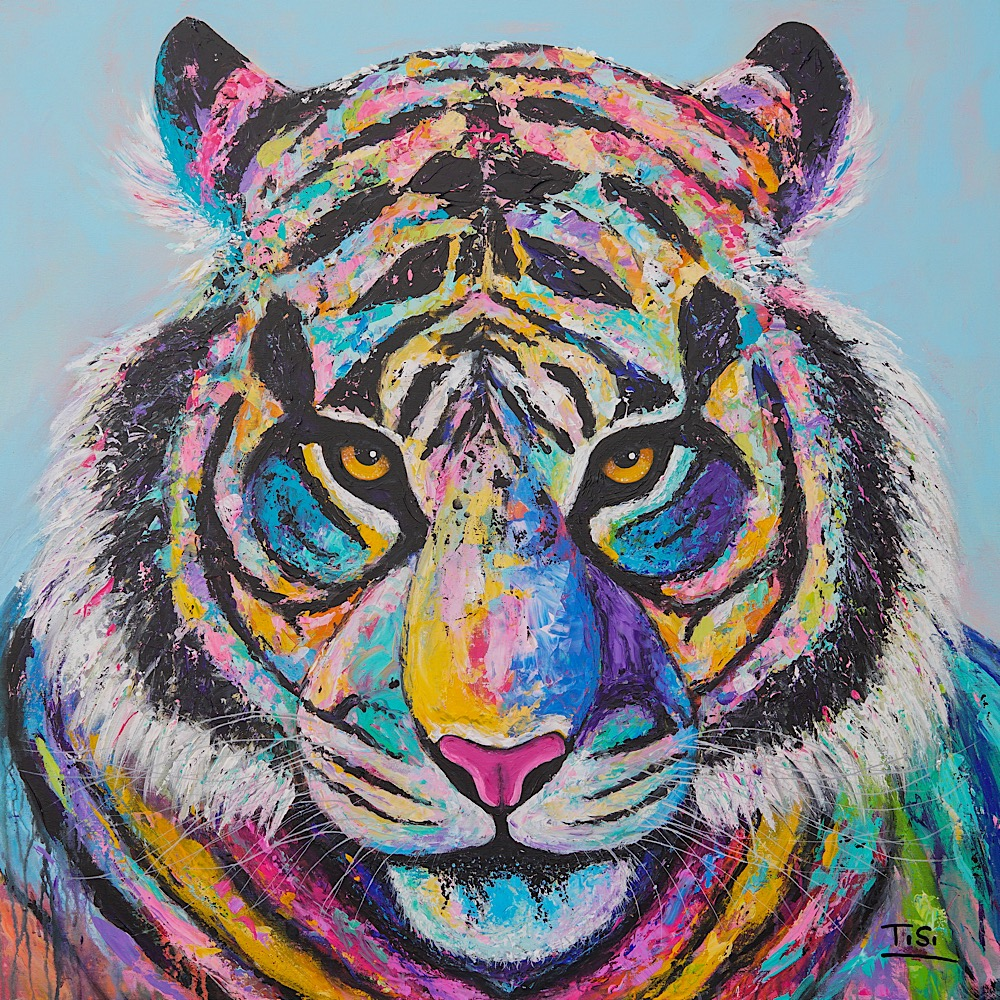 "Kunstwerk Tiger ""Ray"" Contemporary Art, © Silke Timpe 2019"
