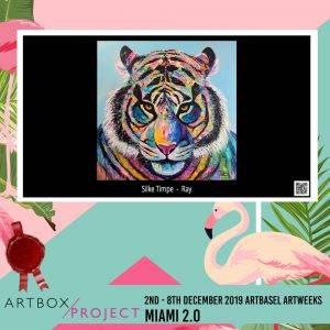 Ausstellungen - Jetzt informieren! Tiger Tierportrait Ray von Silke Timpe ARTBOX Project Miami 2.0 2019